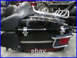 OEM Harley FLTHC Tour Pak Pack Luggage Box 97-08 Vivid Black with Anniversary Pins