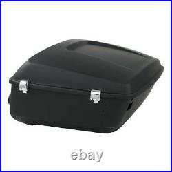 Pack Trunk Backrest Speakers Rack For Harley Tour Pak Road Street Glide 14-20 18