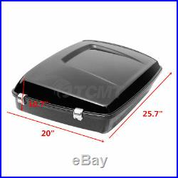 Painted Chopped Luggage Trunk + Latches For Harley Tour Pak Touring 14-20 Black