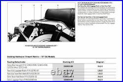 Razor Pack Trunk Backrest Mount Rack For Harley Tour Pak Touring Road King 97-08