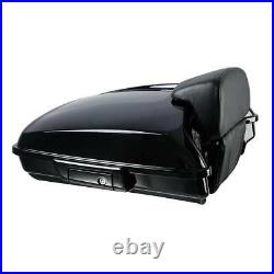 Razor Pack Trunk Backrest Rack Fit For Harley Tour Pak Street Road Glide 97-08