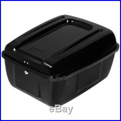 Rear Police Saddlebag Top Box Trunk For Harley Tour Pak Electra Glide FLHP FLHTP