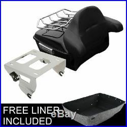 Solo Rack King Pack Trunk Backrest For Harley Tour Pak Road King Glide 2014-2020