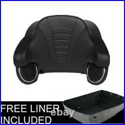 Vivid Black King Pack Trunk Backrest Speaker For Harley Tour Pak Road King 14-20