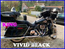 Vivid Black King Tour Pack Pak For 1997-2020 Harley Street Road Electra Glide