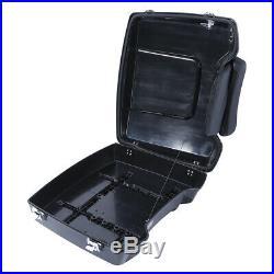 Vivid Black Razor Pack Trunk Chopped Backrest For Harley Tour Pak Touring 97-13